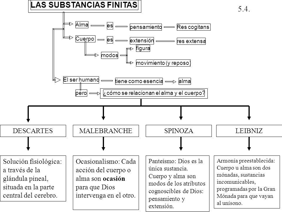 LAS SUBSTANCIAS FINITAS 5.4.