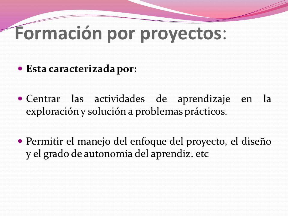 Formación por proyectos: