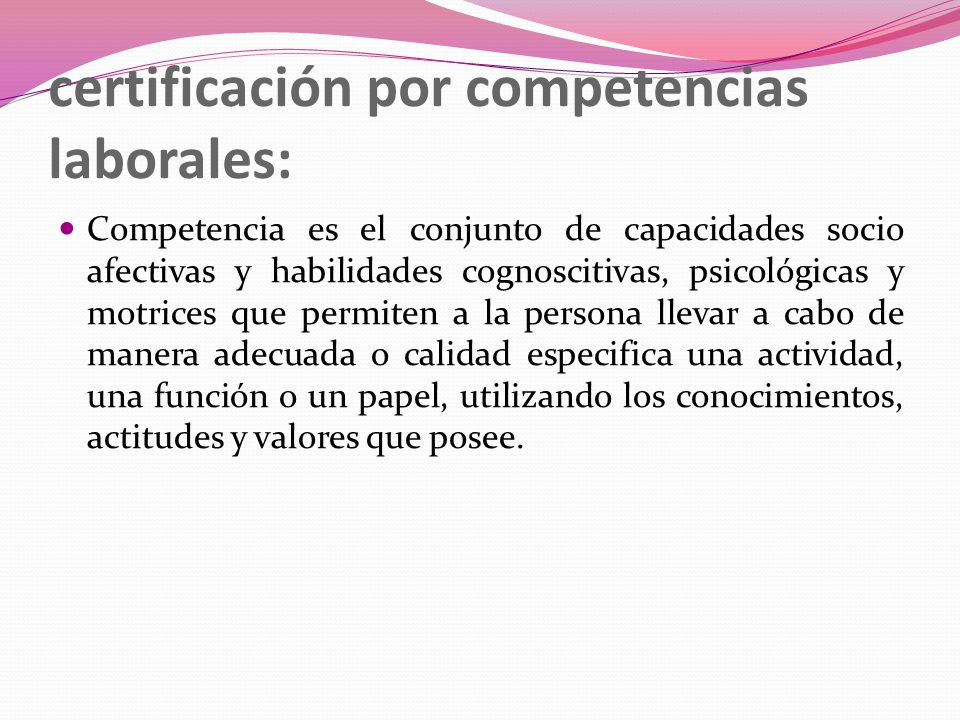 certificación por competencias laborales:
