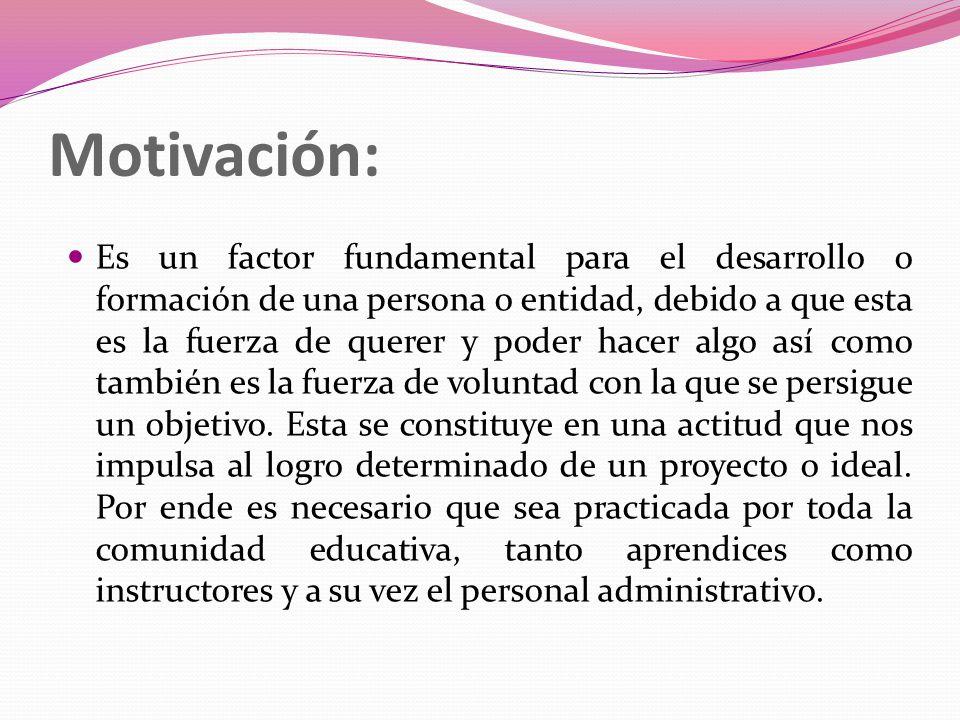 Motivación: