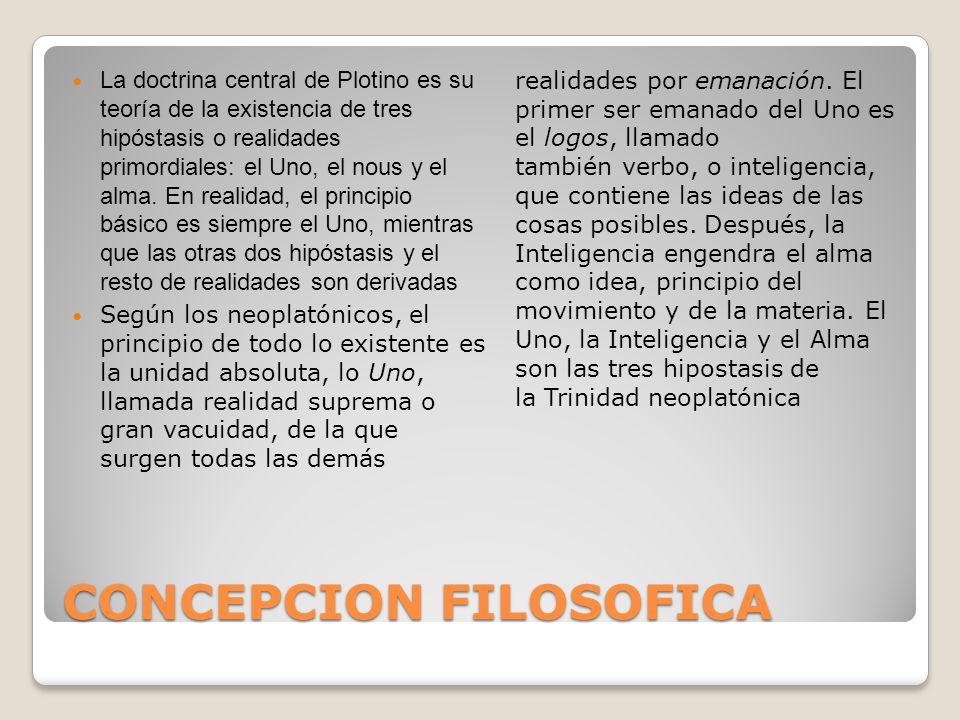CONCEPCION FILOSOFICA