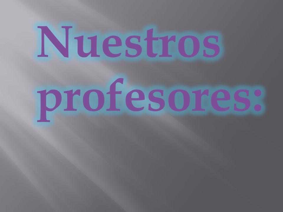 Nuestros profesores: