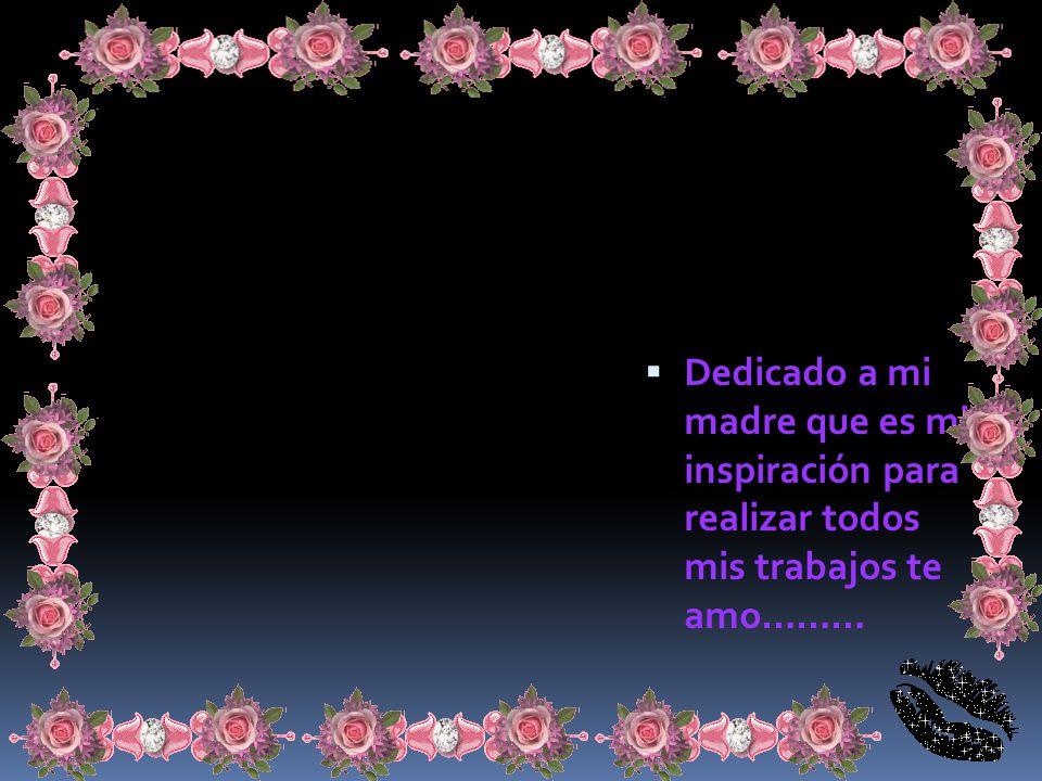 Dedicado a mi madre que es mi inspiración para realizar todos mis trabajos te amo………