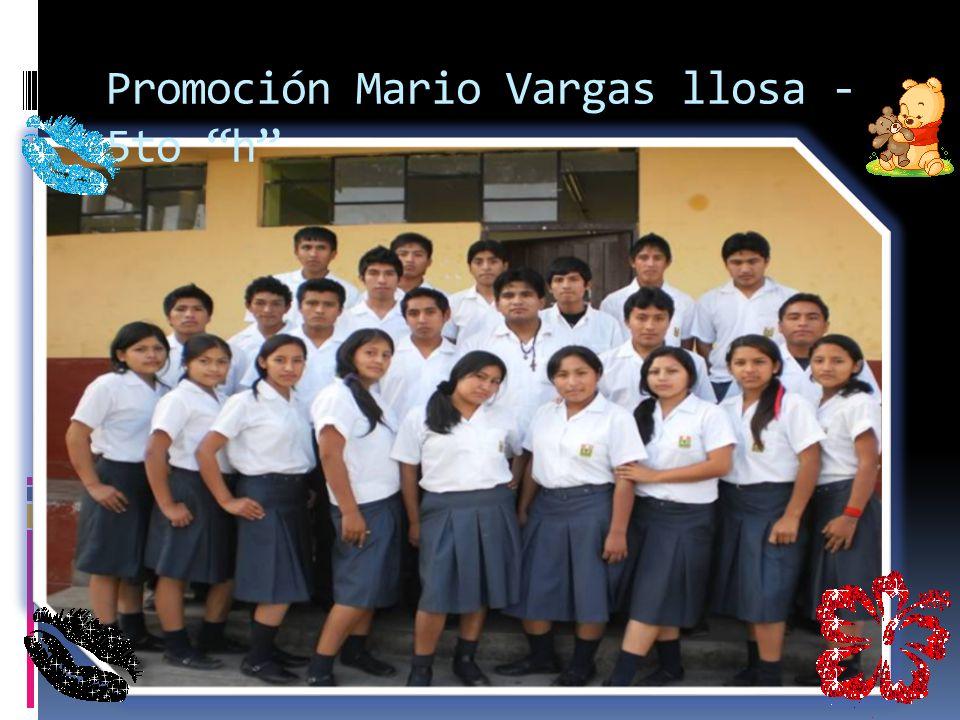 Promoción Mario Vargas llosa -5to h