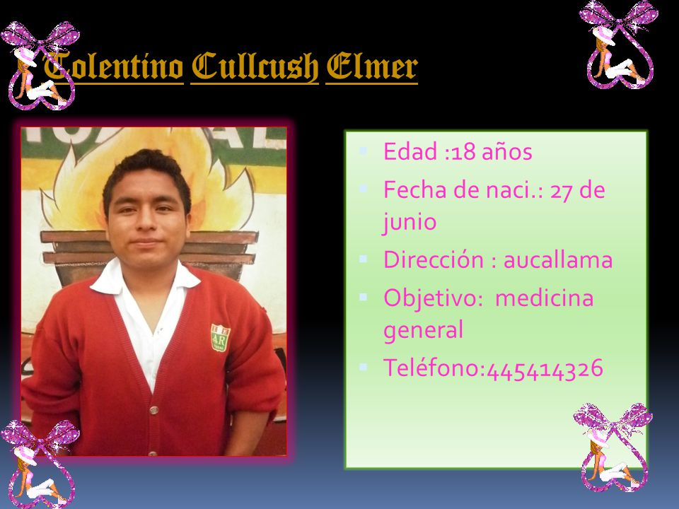 Tolentino Cullcush Elmer