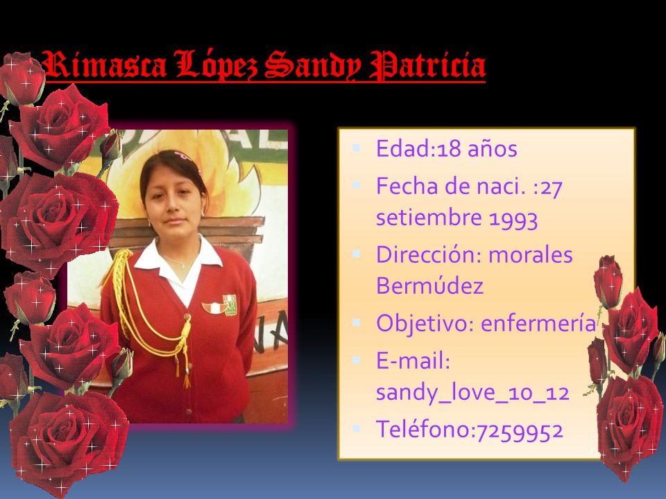 Rimasca López Sandy Patricia