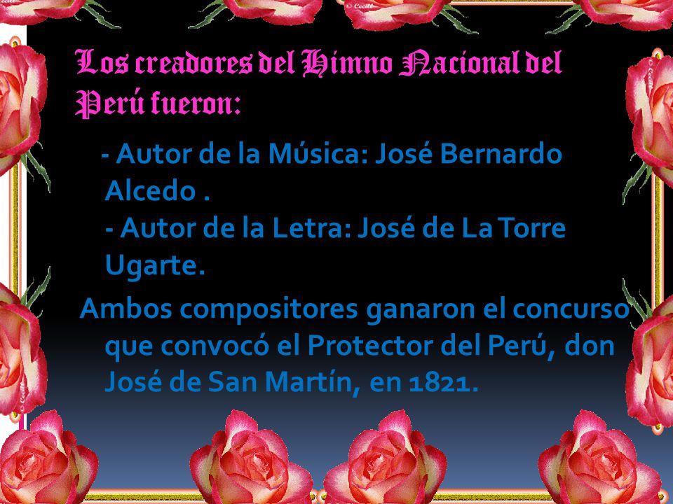 Los creadores del Himno Nacional del Perú fueron: