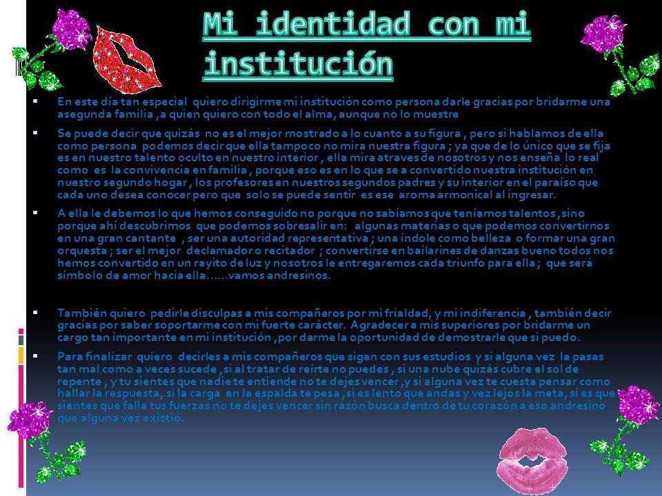 Mi identidad con mi institución