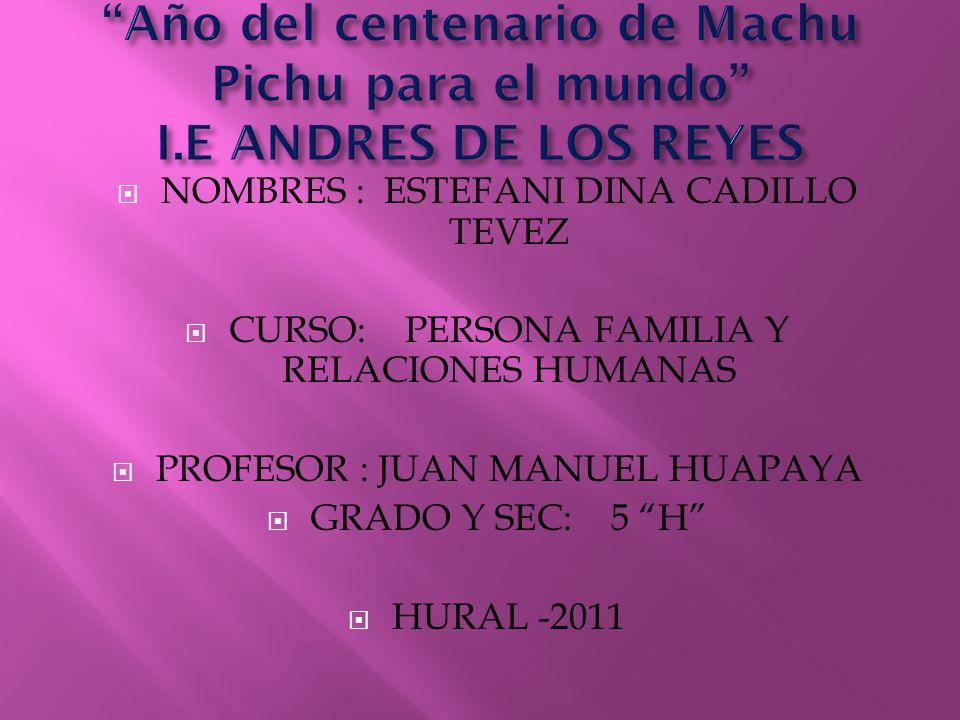 Año del centenario de Machu Pichu para el mundo I