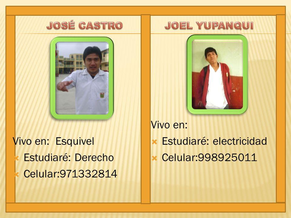 Estudiaré: electricidad Celular:998925011