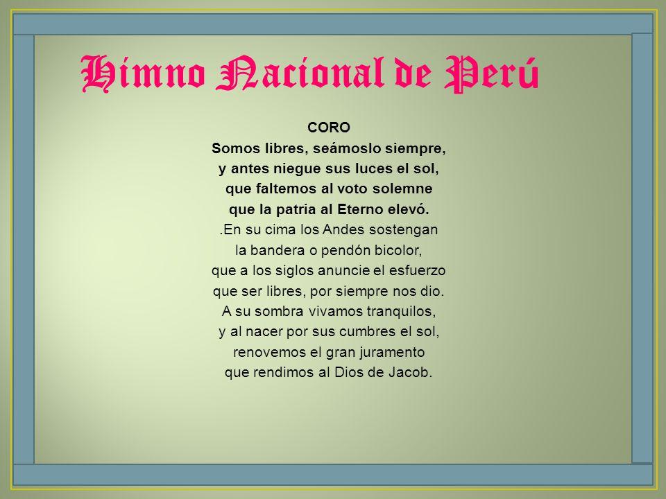 Himno Nacional de Perú