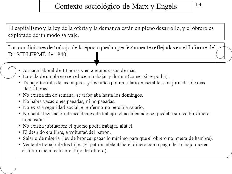 Contexto sociológico de Marx y Engels