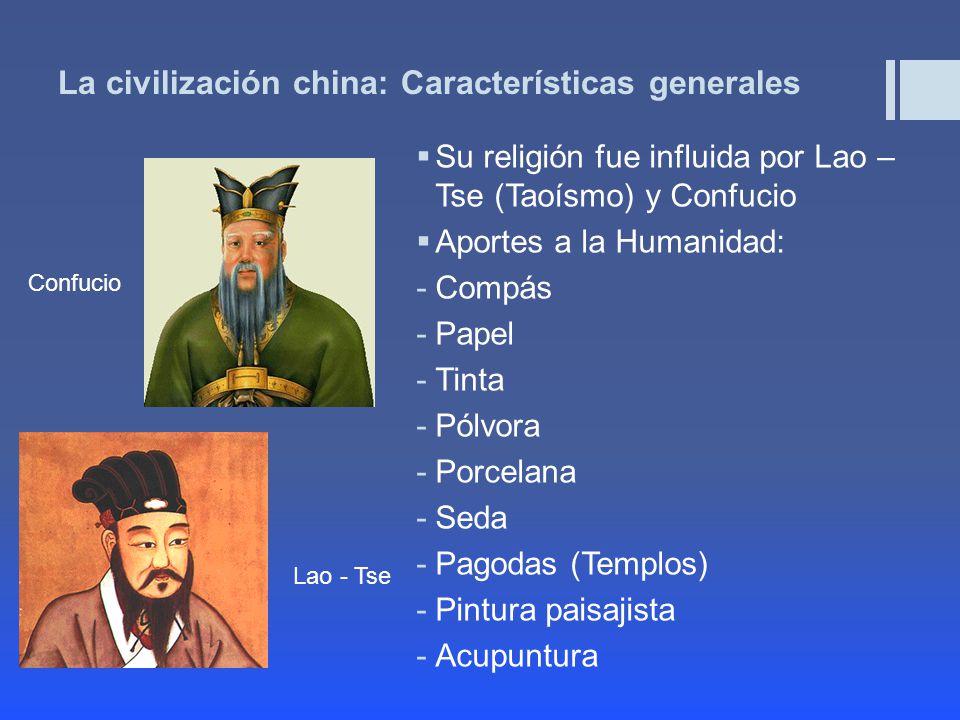 La civilización china: Características generales