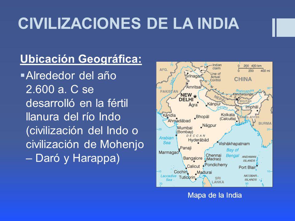 CIVILIZACIONES DE LA INDIA