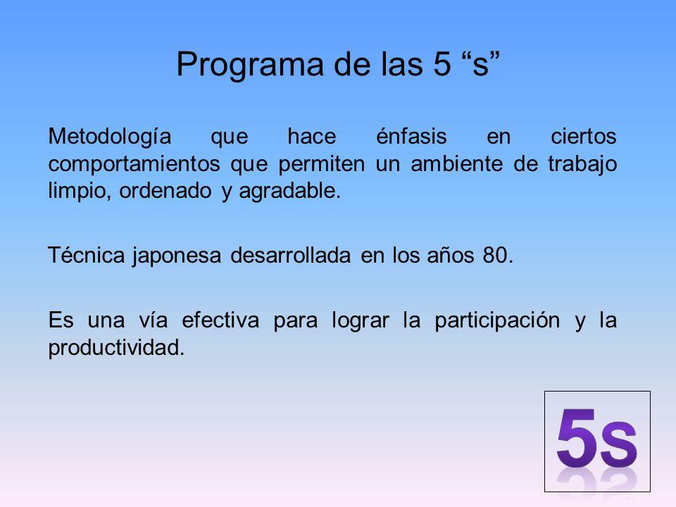 Programa de las 5 s