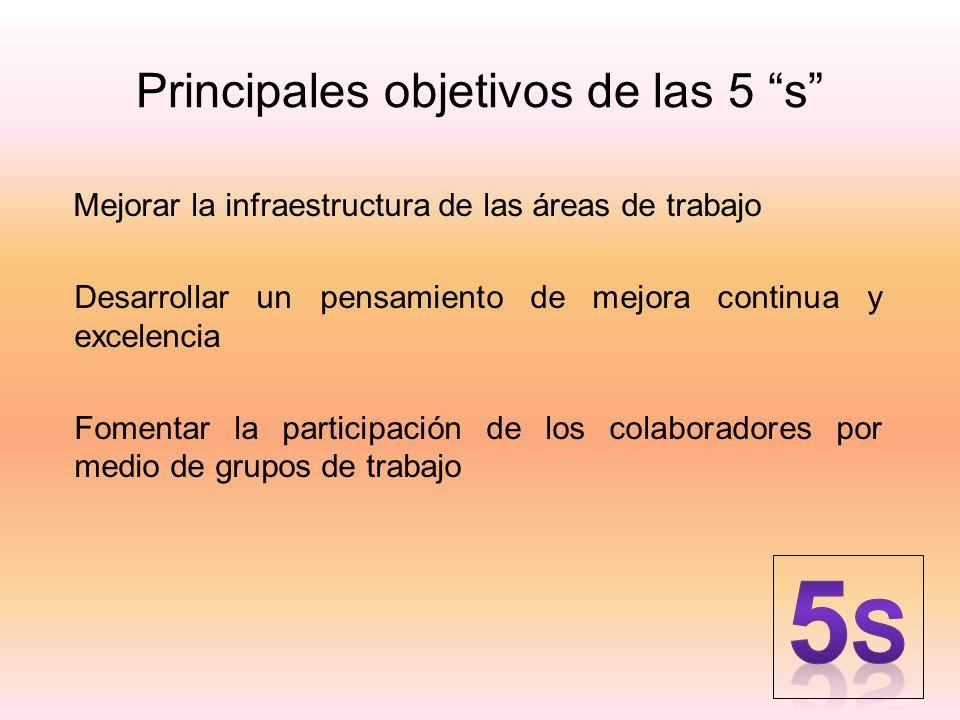 Principales objetivos de las 5 s