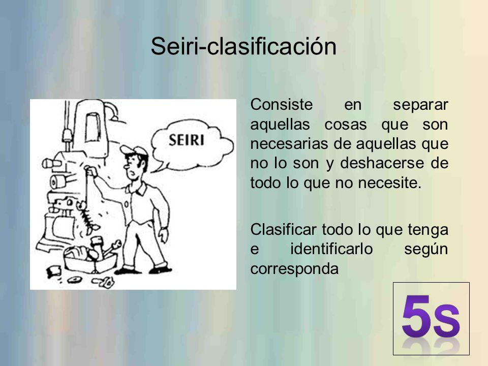 5S Seiri-clasificación