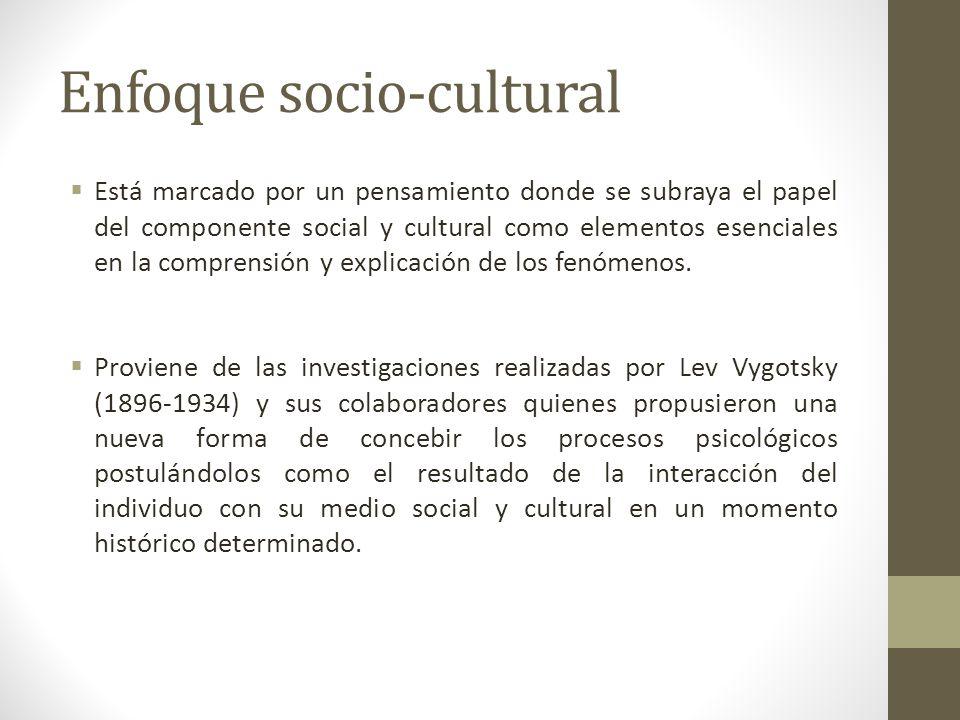 Enfoque socio-cultural
