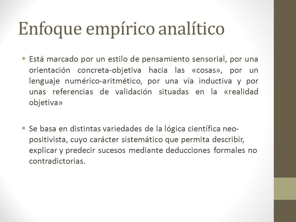 Enfoque empírico analítico