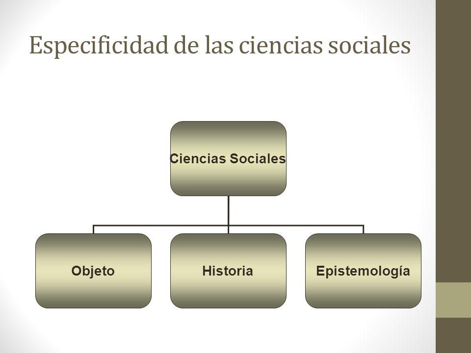 Especificidad de las ciencias sociales