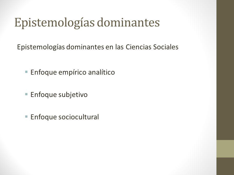 Epistemologías dominantes
