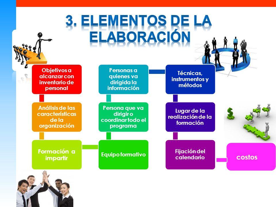 3. Elementos de la elaboración