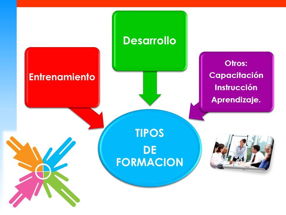 TIPOS DE FORMACION Desarrollo