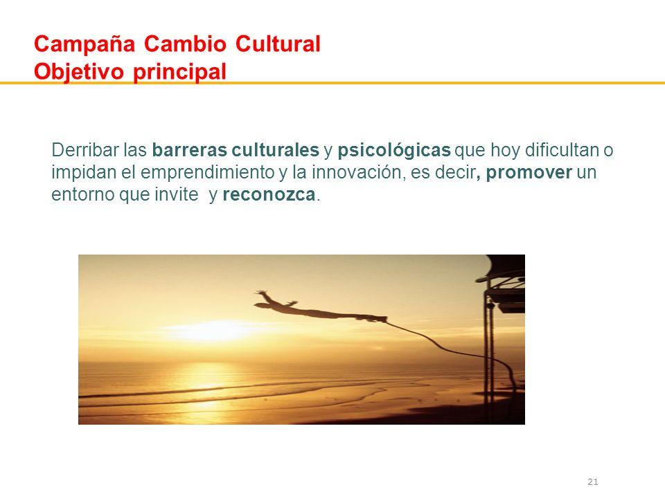 Campaña Cambio Cultural Objetivo principal