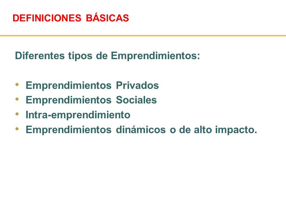 Diferentes tipos de Emprendimientos: Emprendimientos Privados