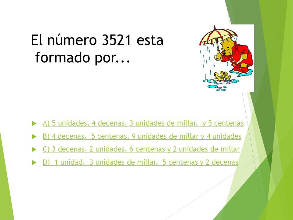 El número 3521 esta formado por...