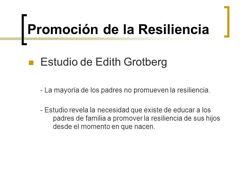 Promoción de la Resiliencia