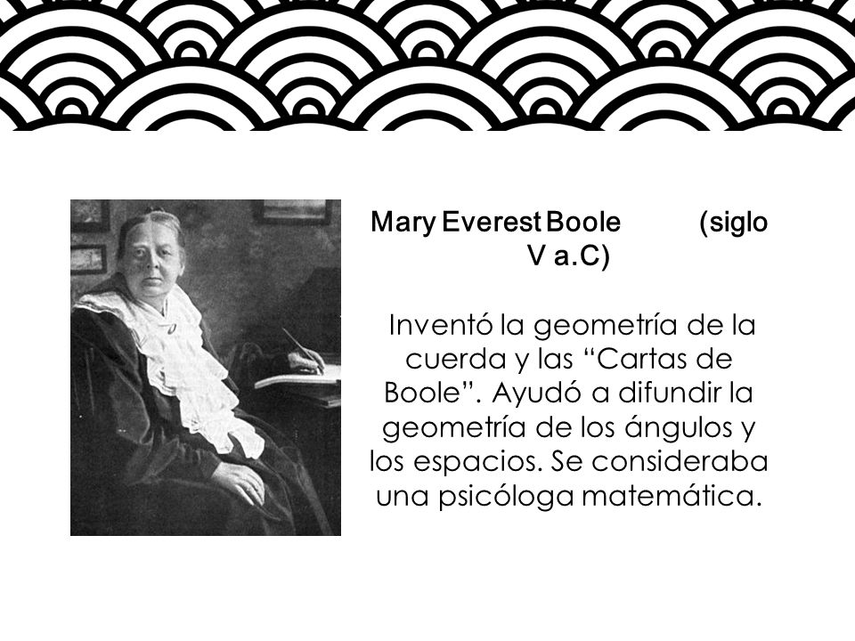 Mary Everest Boole (siglo V a.C)