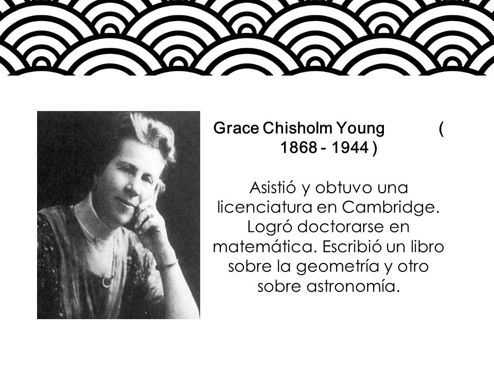 Grace Chisholm Young ( 1868 - 1944 )