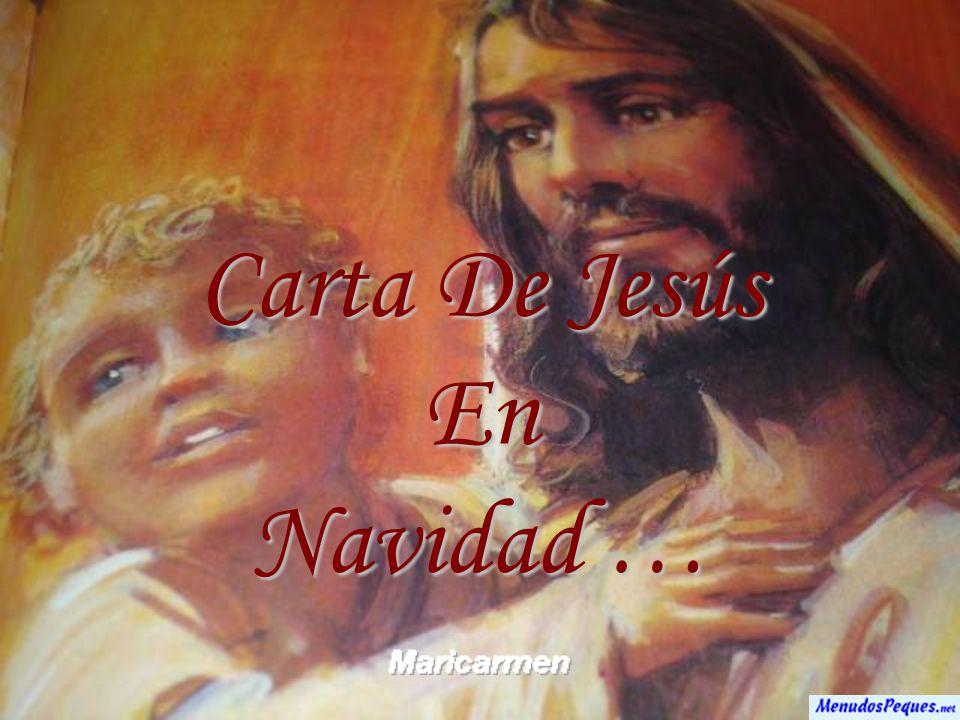 Carta De Jesús En Navidad …