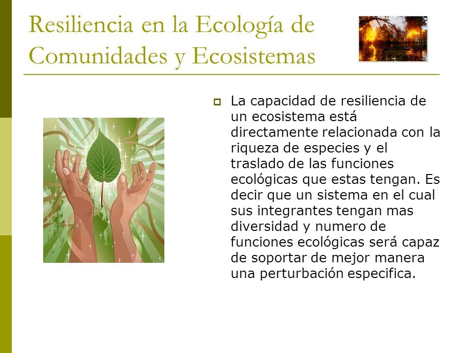 Resiliencia en la Ecología de Comunidades y Ecosistemas
