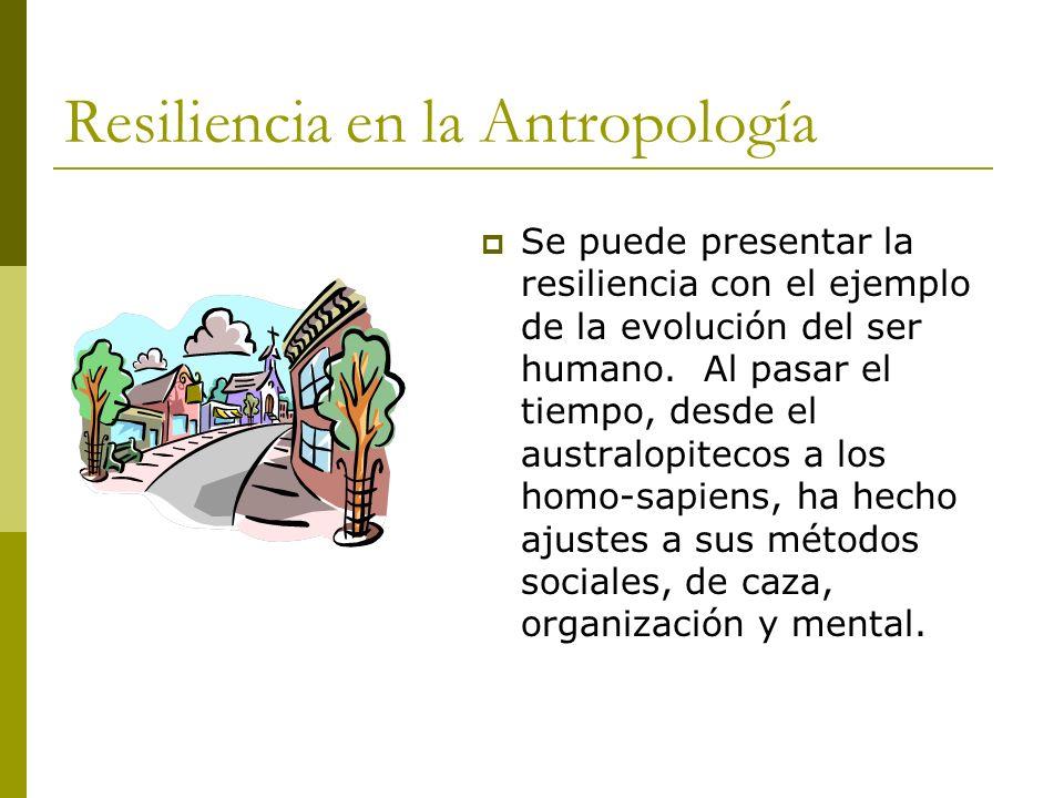 Resiliencia en la Antropología