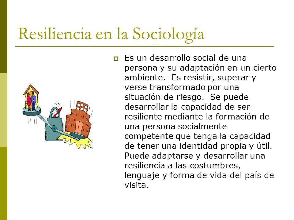Resiliencia en la Sociología