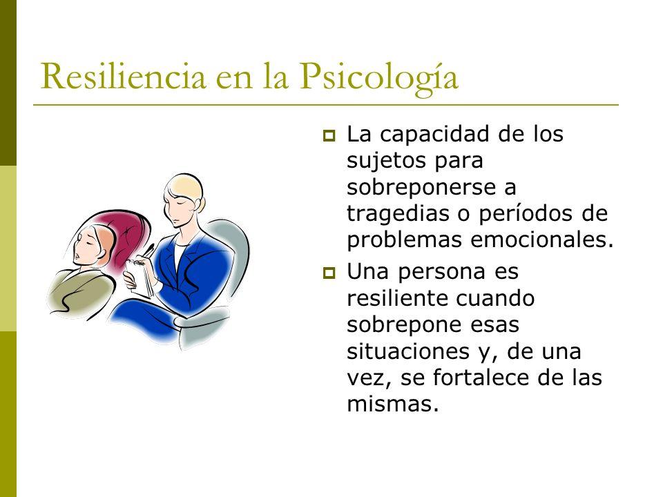 Resiliencia en la Psicología