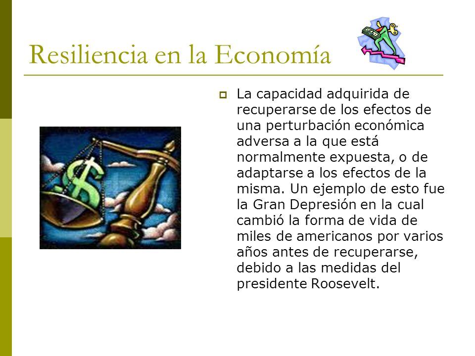 Resiliencia en la Economía