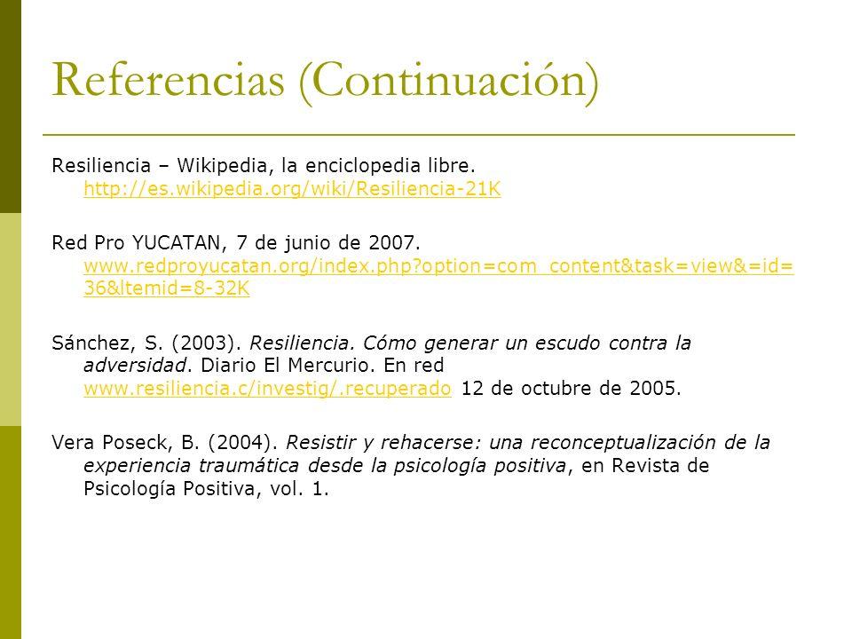 Referencias (Continuación)