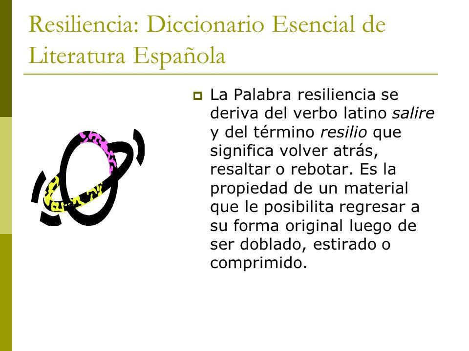 Resiliencia: Diccionario Esencial de Literatura Española
