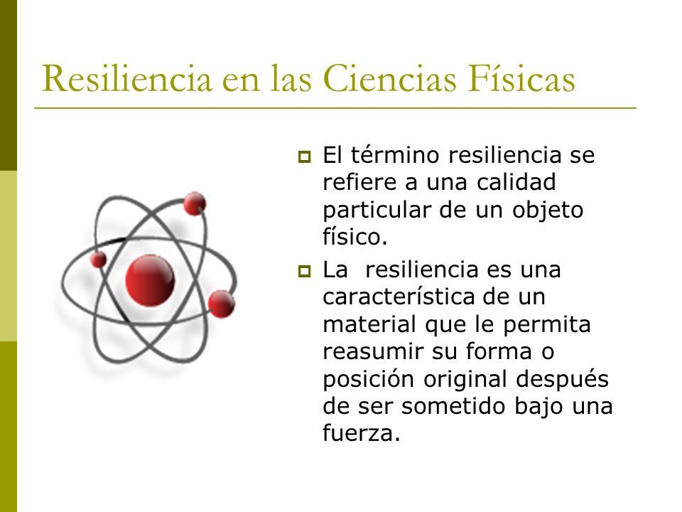 Resiliencia en las Ciencias Físicas