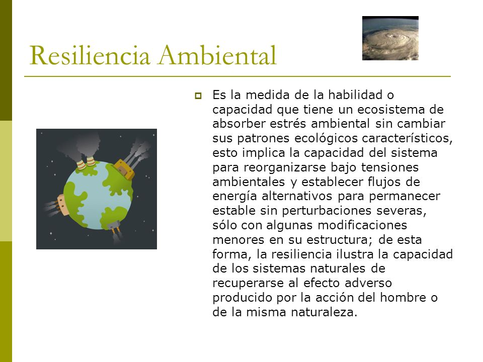 Resiliencia Ambiental