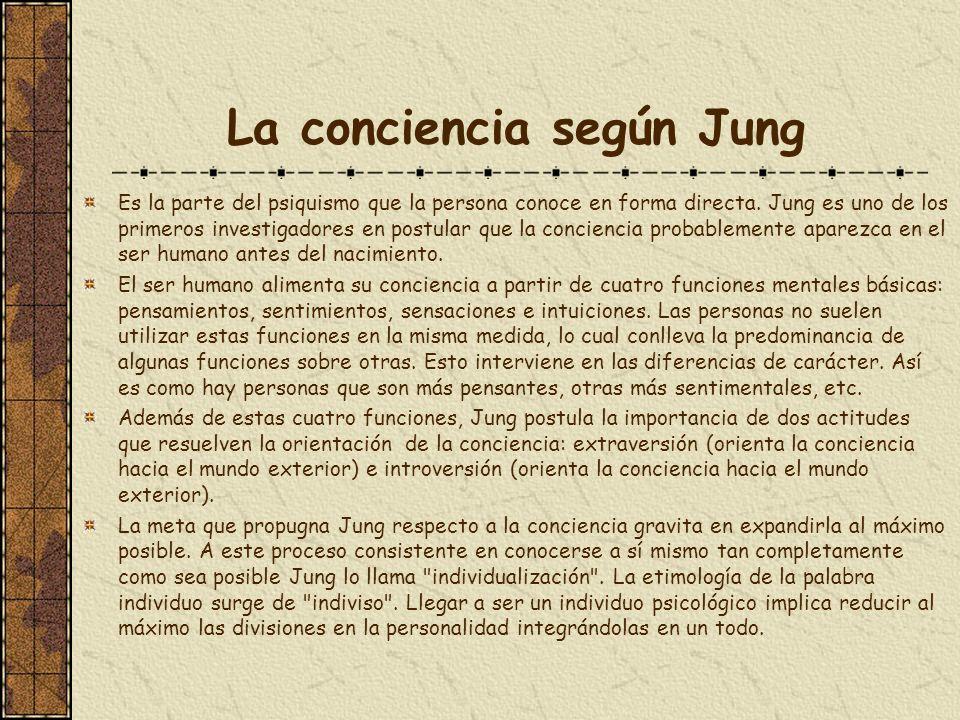 La conciencia según Jung