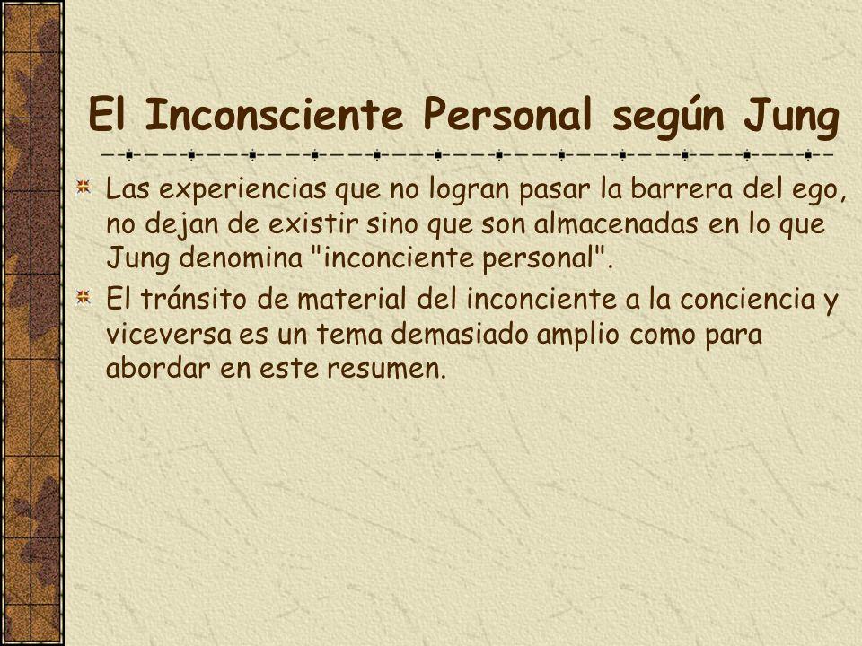 El Inconsciente Personal según Jung