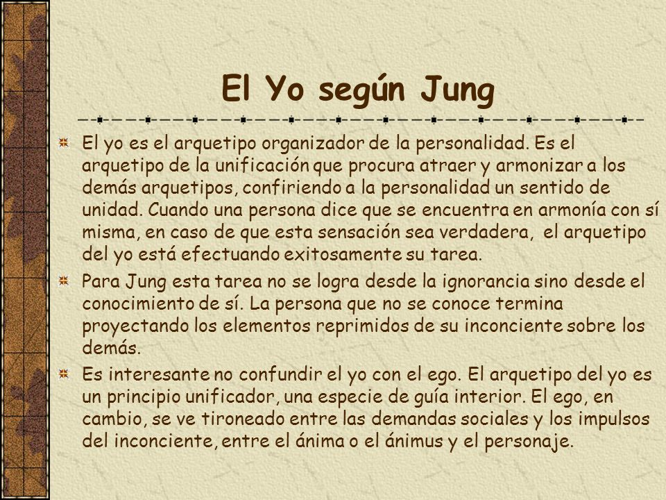 El Yo según Jung