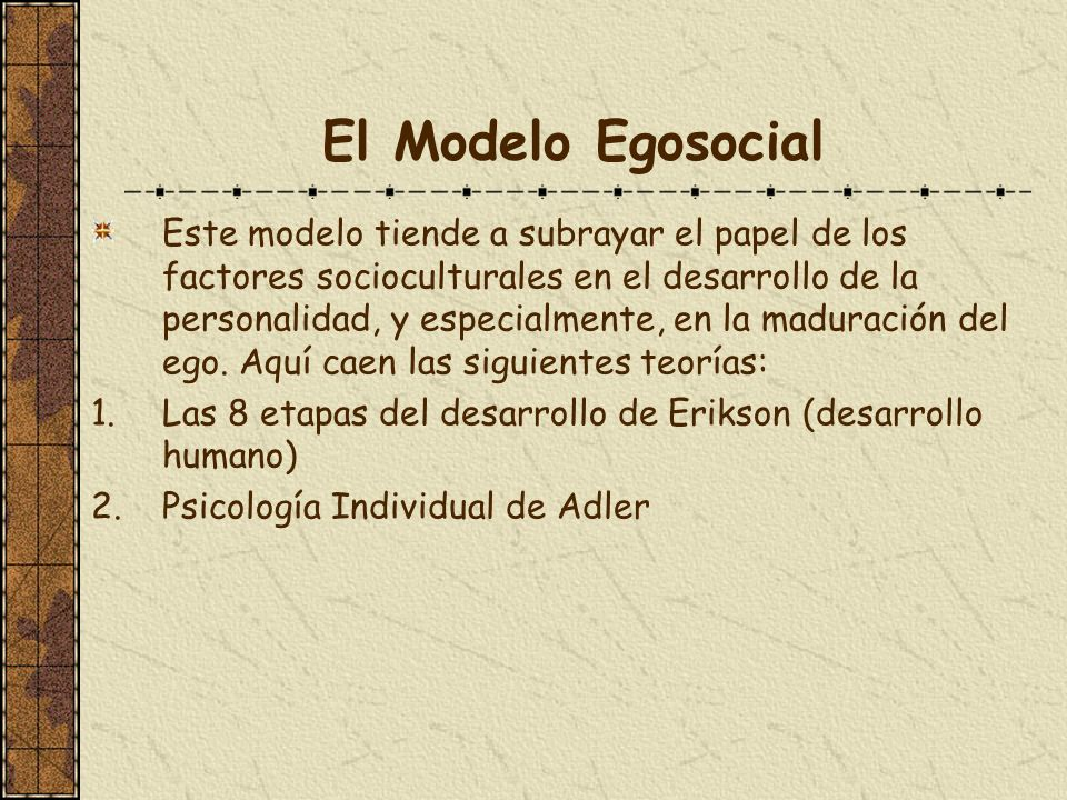 El Modelo Egosocial