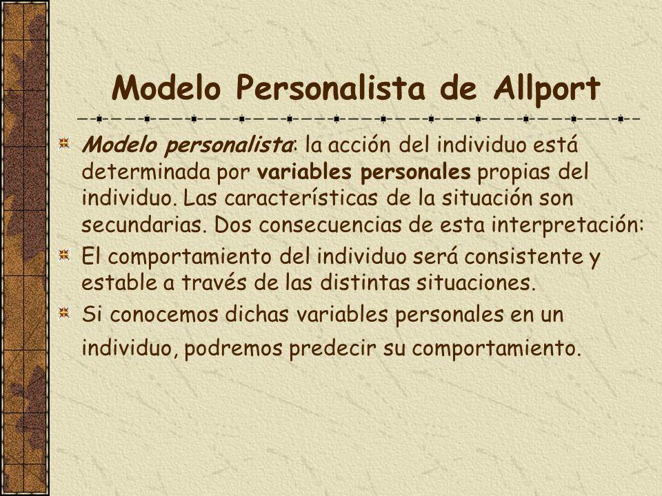 Modelo Personalista de Allport