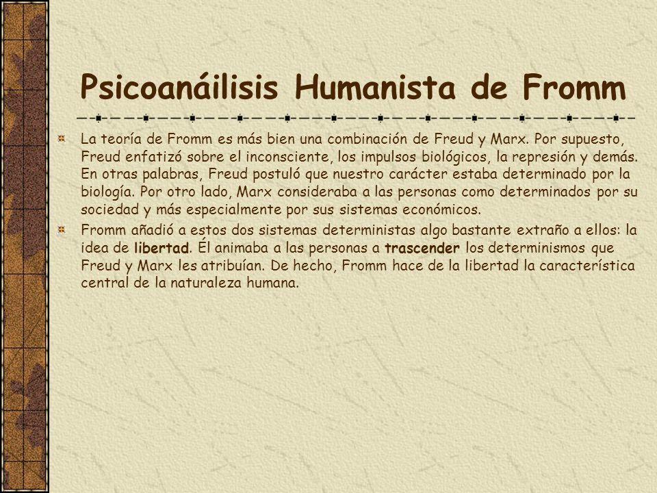 Psicoanáilisis Humanista de Fromm