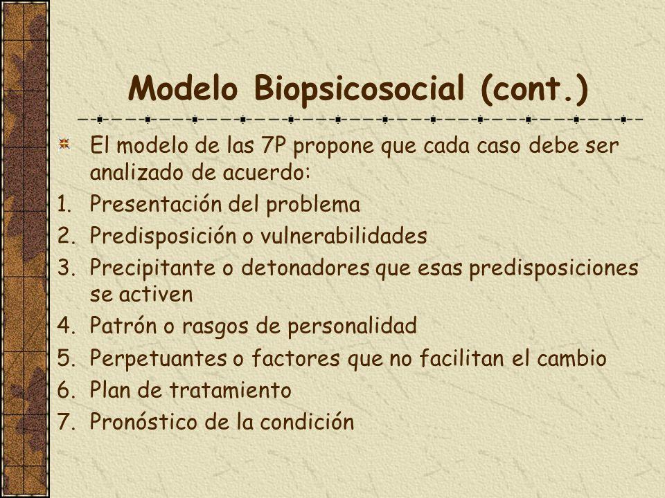 Modelo Biopsicosocial (cont.)